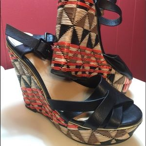 Cato Wedge Heels w/Double Ankle Straps